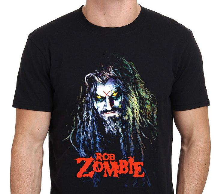 2017 Men'S Summer Cute Rob Zombie Metal Band Printed Men'S Custom Fashion T Shirt Cool Tops Short Sleeve Hipster Tees