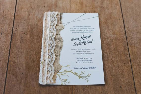 Vintage Paper and Lace Customizeable Invitation Suite by AllieRuth, $7.25