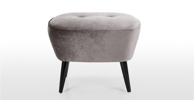 Lotus Footstool in silver grey | made.com