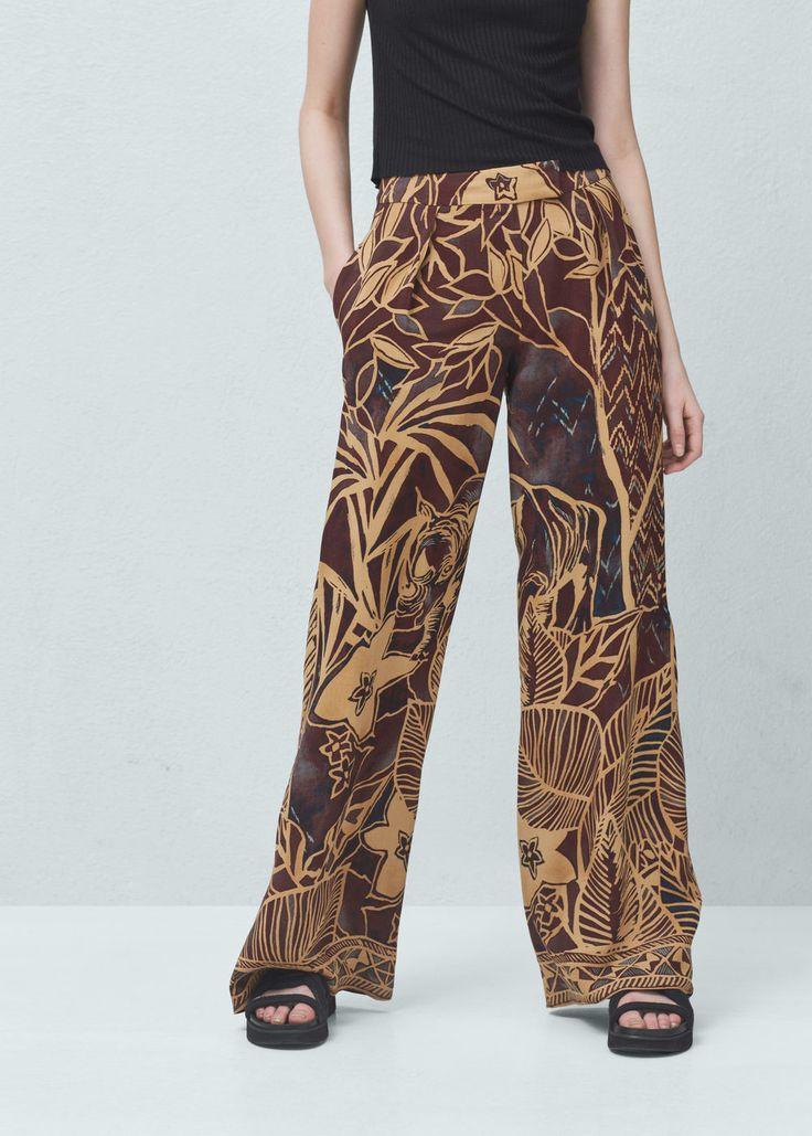 Pantaloni stampati fluidi | MANGO