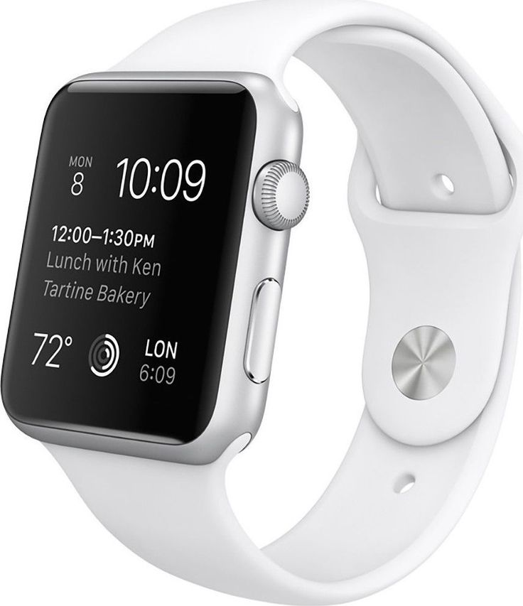 New Original Apple Watch Sport Silver Aluminum Case w/ White Band 42mm MJ3N2LL/A - 100% Satisfaction Guaranteed Or Your Money Back!!! #case #white #band #aluminum #silver #apple #watch #sport #original