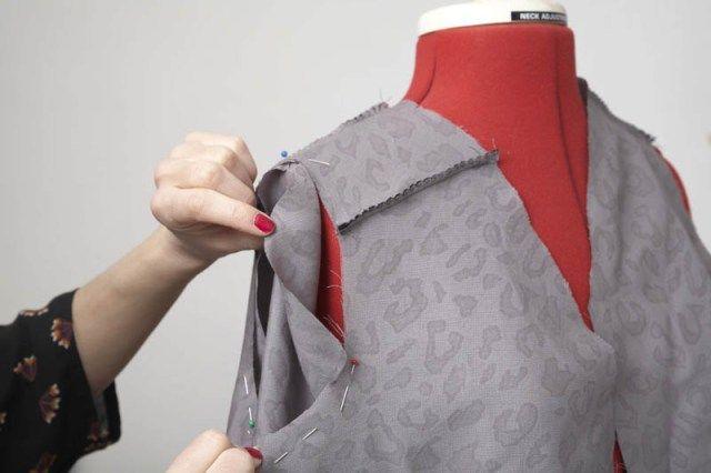 Monter une manche sans fil de fronce - tuto My handmade closet