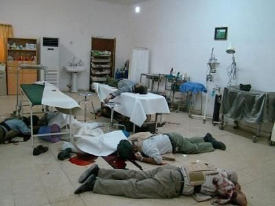 This is the Camp Ashraf clinic. The Special forces entered the clinic and shot all the patients. UN has not yet investigated nor has tried to  find those responsible for this heinous crime