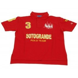 """Sotogrande Polo Team - Red £120.00-  """"Best fitting polo shirt I've ever had"""" -Roddy Williams, England Polo Team"""