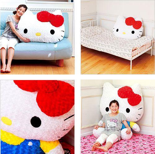 Hello Kitty Cuddle Pillow: Giant Hello Kitty Pillows