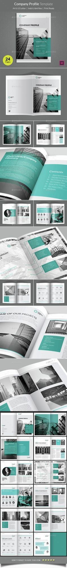 [Inspirations éditoriales] - Company Profile Brochure Template InDesign INDD. Download here: http://graphicriver.net/item/company-profile-template/14848589?ref=ksioks