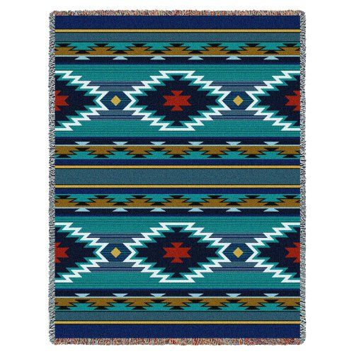 11 Southwestern blankets that will bring Santa Fe into your home:  Southwest Geometric Cornflower Tapestry Throw