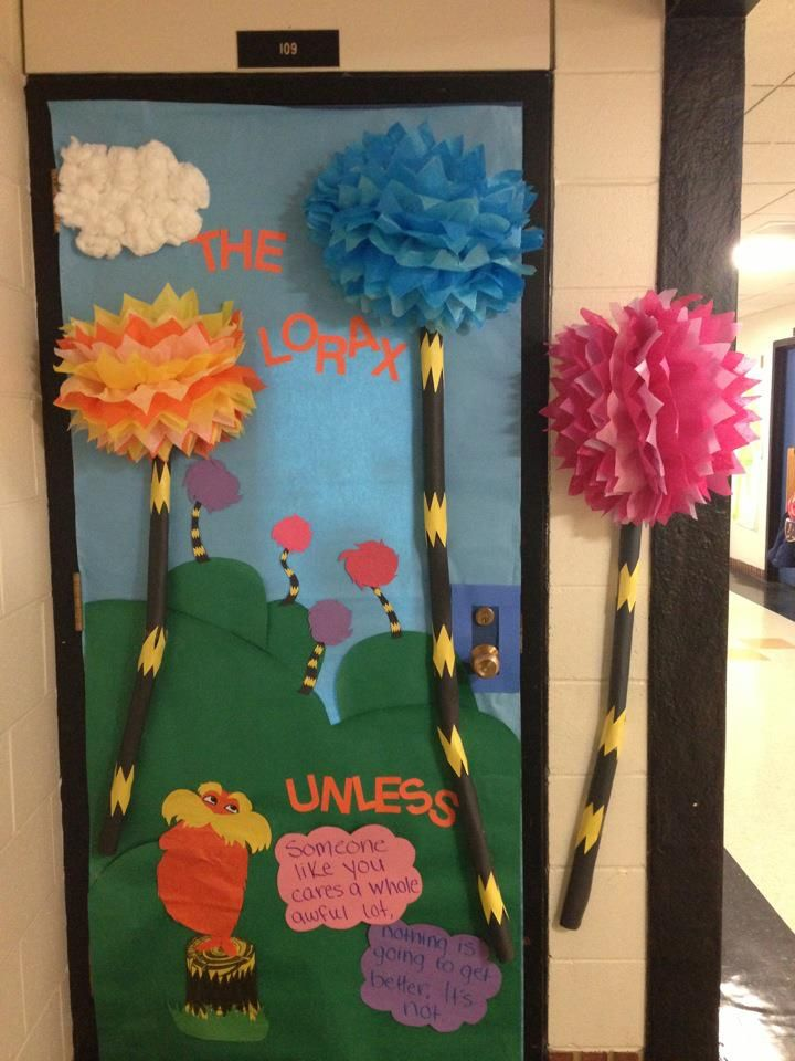Lorax Classroom Decor ~ The lorax themed door i created for read across america dr
