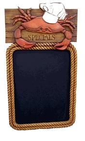 Nautical Restaurant Decor Crab Chalkboard