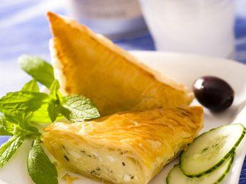 Triangles au fromage de brebis