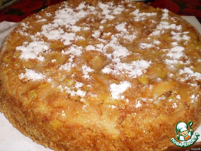 Постный бисквитный яблочный пирог ингредиенты