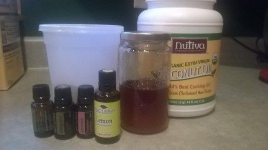 essential oil/clay/honey/coconut oil recipe for acne