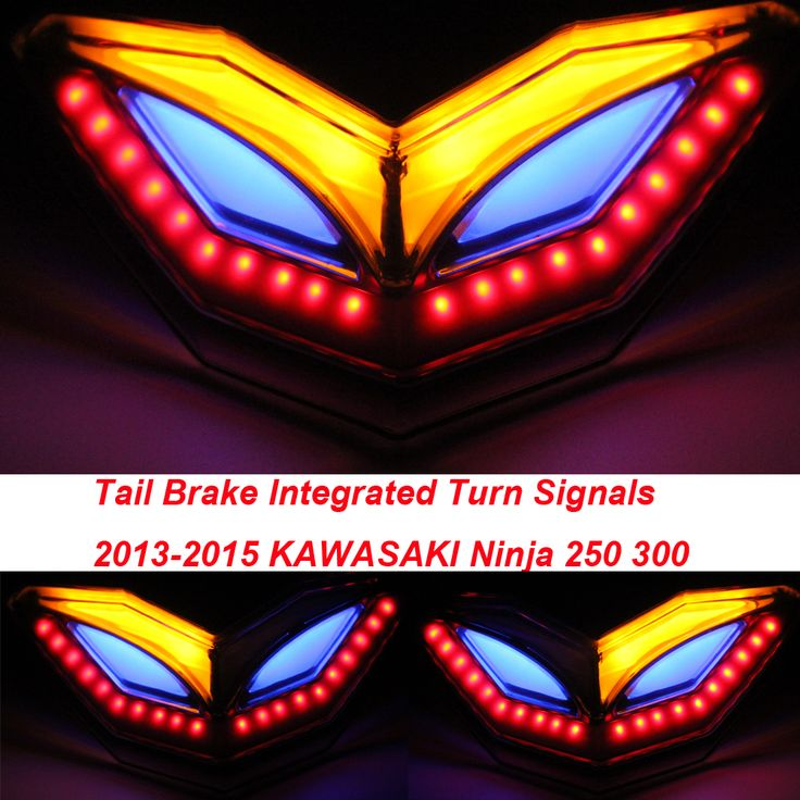 Taillight Tail Brake Turn Signals Integrated Led Light For KAWASAKI 2013-2015 Ninja 250 300 250R 300R EX250 EX300