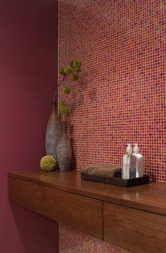 Modern Bathroom - modern - bathroom - boston- use of tile, floating vanity for powder room