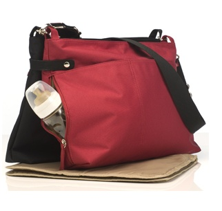 Babymel x2 in Red and Black. Twice the Baby... Twice the Bag! $149 and available at www.dollface.com.au