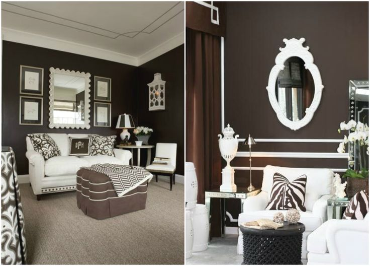 Интерьер в шоколадных оттенках #дизайн #интерьер #декор #тренды #стиль