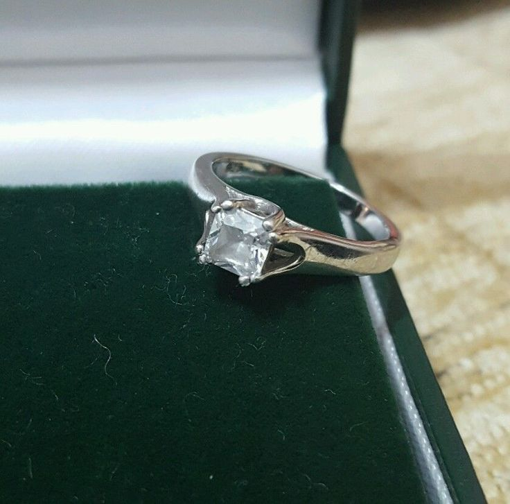 925 STERLING SILVER SOLITAIRE RING WITH A BRIGHT CLEAR ZIRCON SIZE J½ in Jewellery & Watches, Fine Jewellery, Fine Rings | eBay