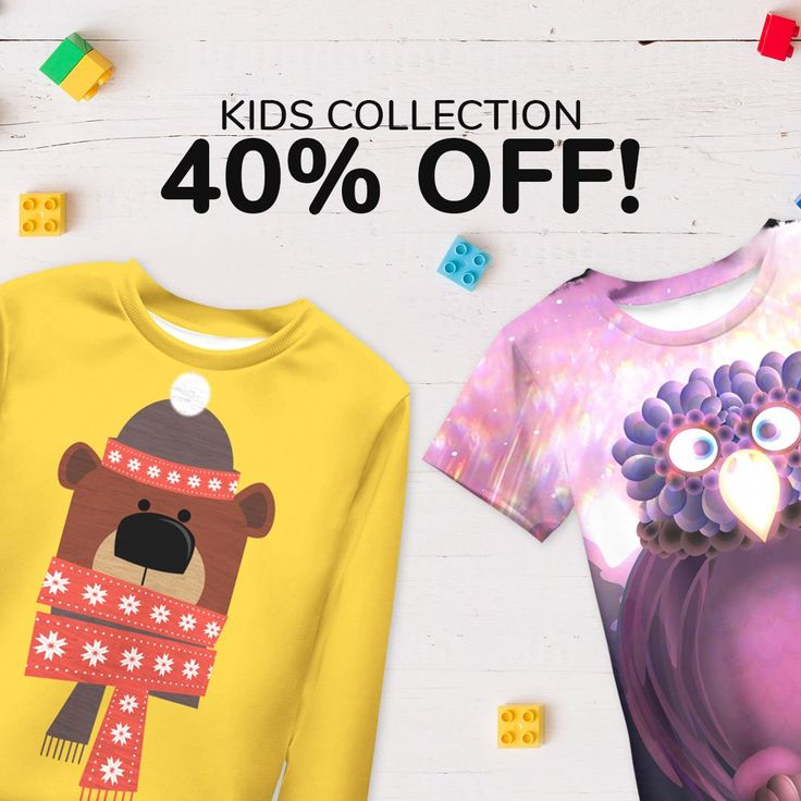 This weekend ➡️ 40% OFF for kids collection at Live Heroes!