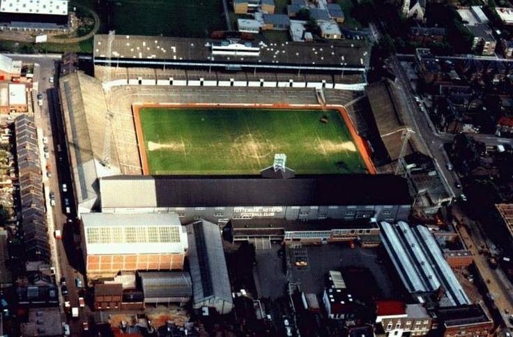 Here is a beautiful colour aerial shot of White Hart Lane from the early 1970s.
