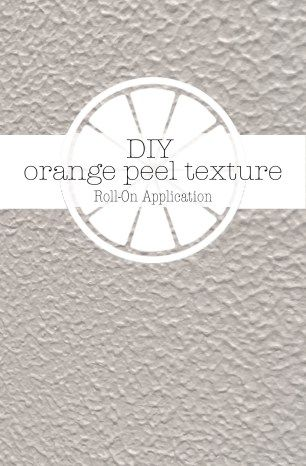 DIY Orange Peel Texture