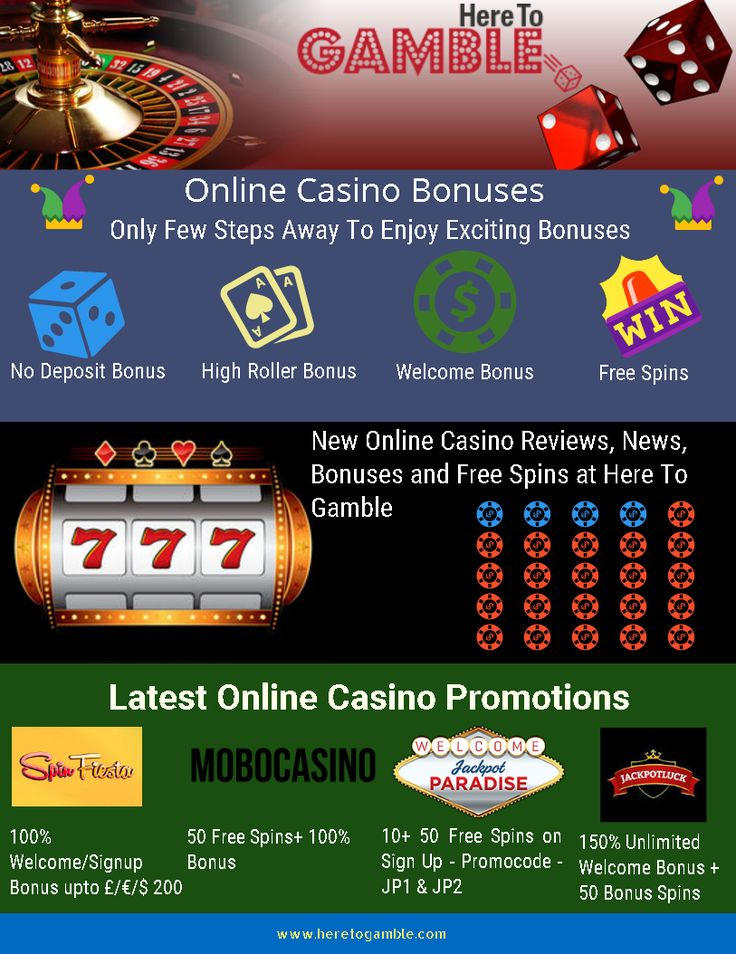#HereToGamble Latest Online #Casino Bonuses, #free #spins and promotions details