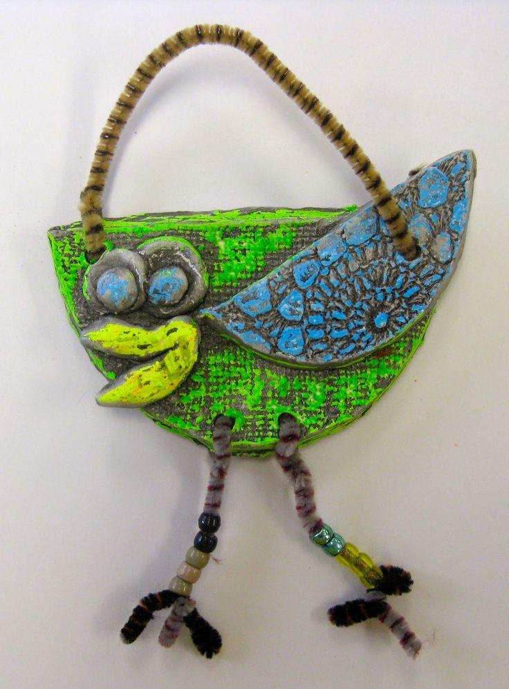 Cassie Stephens: In the Art Room: Kindergarten Clay Birds