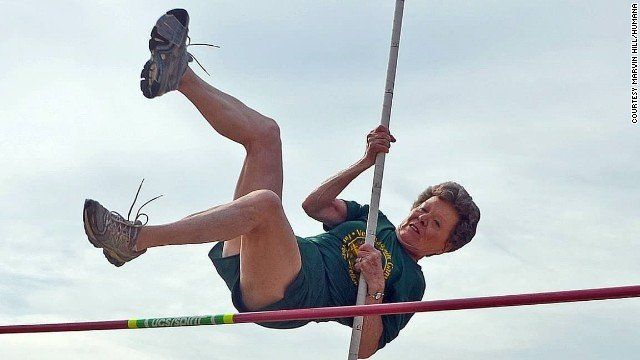 ♥✤♥ Flo Meiler, great-grandmother from Vermont holds 15 #athletic world records and 12 #US records ♥✤♥            Flo Meiler 79 years old is great-grandmother to 2. She's a pole-vaulting, hurdle-jumping track, field star.  She was 65 years old when she started pole vaulting. She set world indoor record in pole vault, 4x100 meter relay...  She has also records in discus, 200-meter hurdles, hammer throw. #OMG #Goodies #weird #bizarre #Strange #Odd #Fun #inspiration #tips #Trick