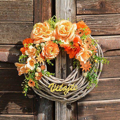 Hydrangea / Oranžový veniec Vitajte