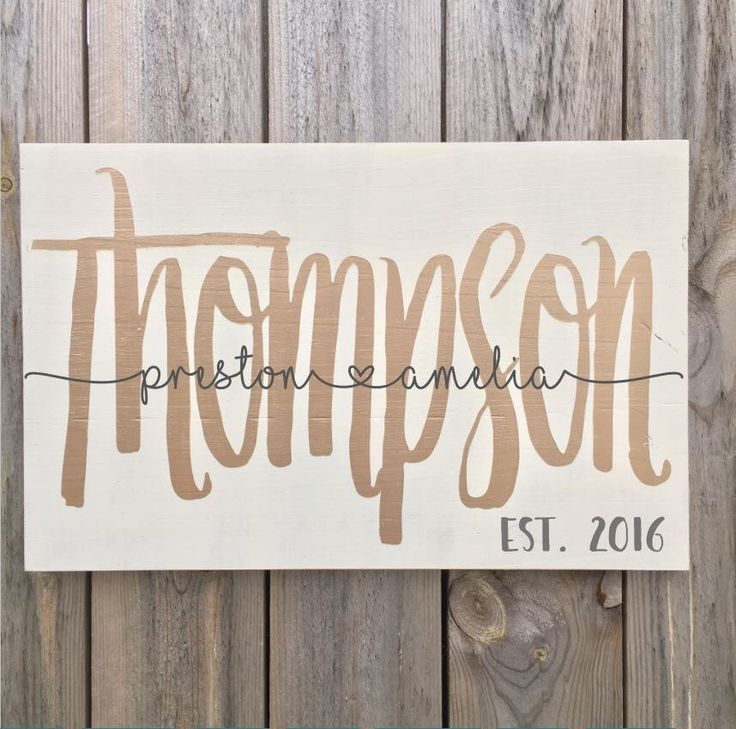 Wedding  Wood Sign, Rustic Wedding Sign with Names and Anniversary Date, Last Name Wooden Sign, Personalized Wedding Gift, Wedding Shower by studio10b on Etsy (null)
