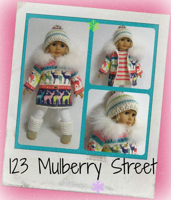 American Girl Doll Clothes  Let It Snow  Coat by 123MULBERRYSTREET