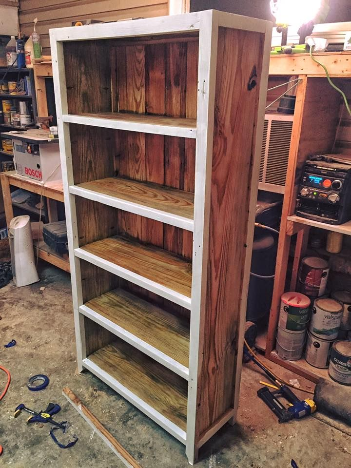 Build awesome pallet #bookcase for your home to suit your storage and display needs! - Large Pallet #Bookshelf - 150+ Wonderful Pallet Furniture Ideas | 101 Pallet Ideas - Part 11