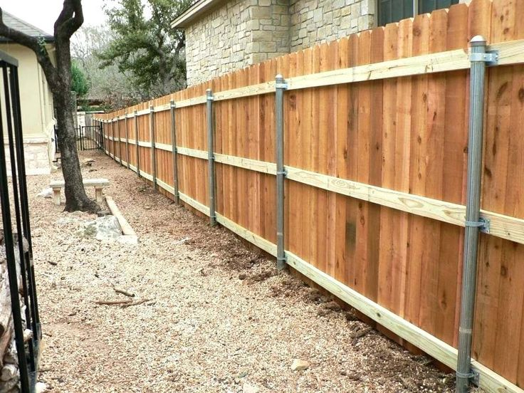 Best Installing Metal Post To Wood Fence Bracket Wood Fence 400 x 300