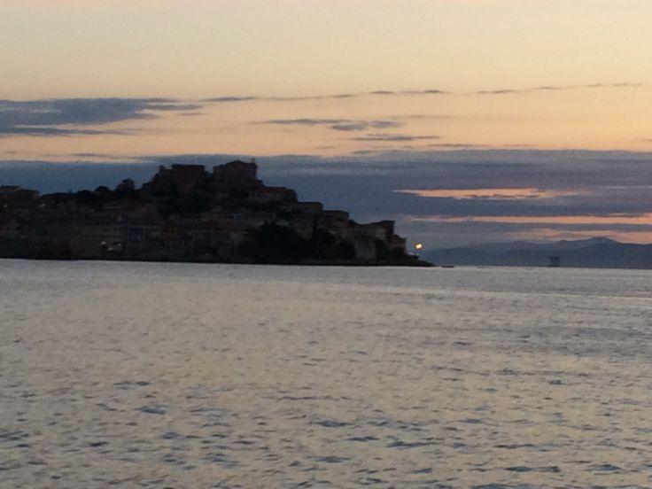 arriving Portoferraio - Elba island - italy