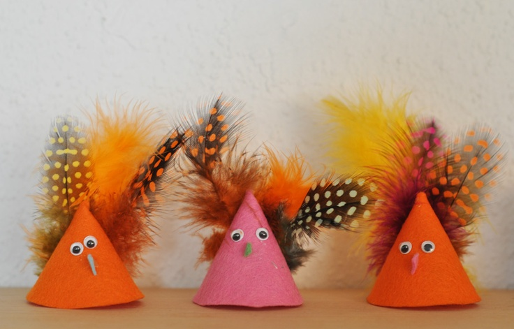 felt birds .. could make with paper too