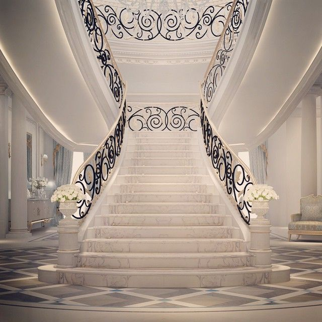 Grand Staircase Design Oman Muscat Luxury Entrance Lobby Designs By Ions Design