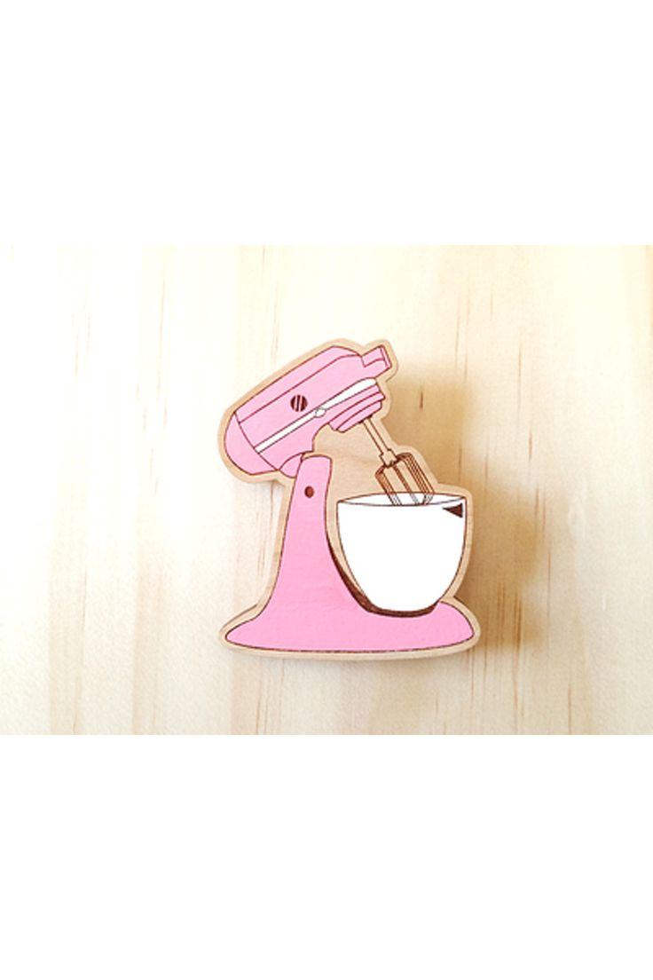 Deer Arrow Pink Mixer brooch
