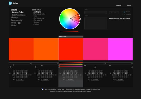 5 top colour resources -  Take a look at these top online resources where you'll find tons of advice and inspiration on the subject of colour.
