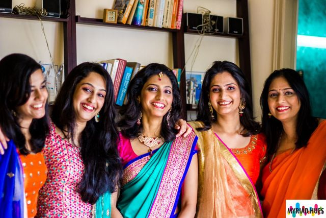 Gorgeous women of the family #indian #engagement #candid #sarees #lehenga