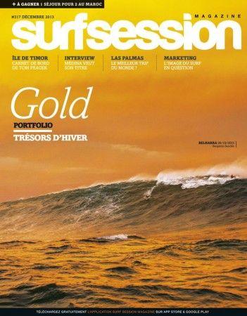 La Belharra en couverture de Surf Session décembre 2013. www.urrugne.com