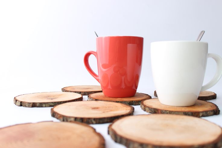 Good morning from our office- coffee and our wooden beverage coasters! :)