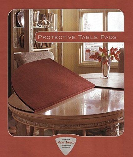 Table Pad for Rectangular Dining Table (Rectangular with Rounded Corners Flax)