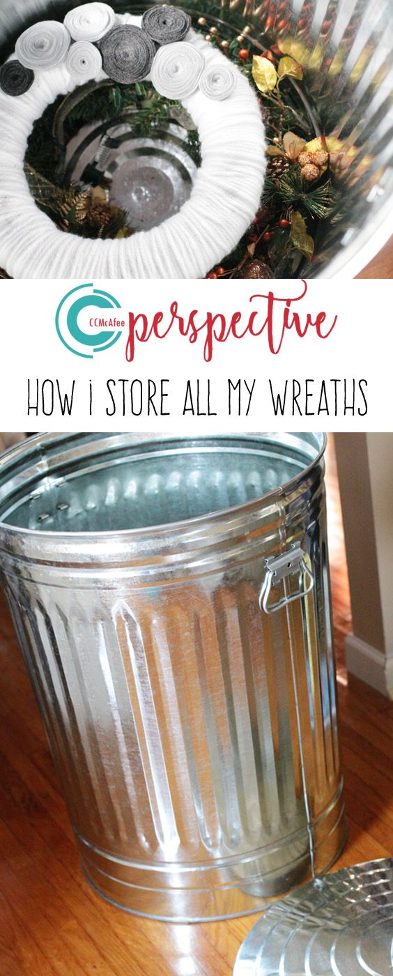 Who Woulda Thunk?  I use garbage cans for all of my wreath storage.  PERFECT!!! CCMcAfee Perspective
