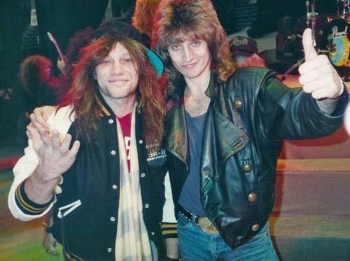 Jon Bon Jovi and Lenny Wolf | Rare Photos of Music ...