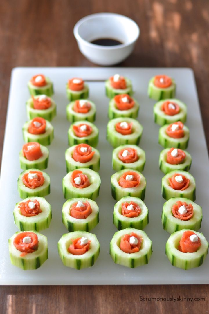Cucumber Sushi Flowers Recipe Sushi Amp Spring Rolls