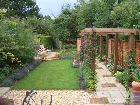 Andrew Coates Garden Design  Long narrow garden Garden Fencing trellis garden ideas