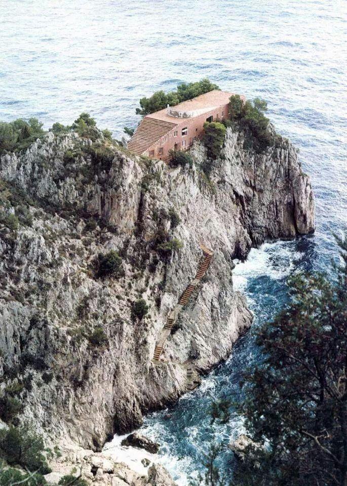 Villa Malaparte by Adalberto Libera Curzio Malaparte, Capri