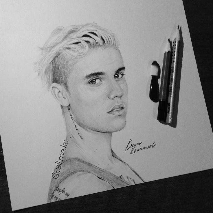 justin bieber drawings