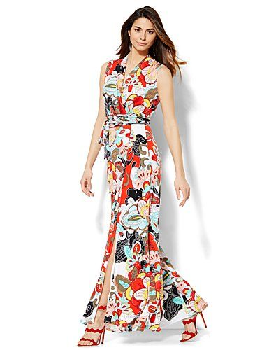 Shop Floral Wrap Maxi Dress - Petite . Find your perfect size online at the best price at New York & Company.