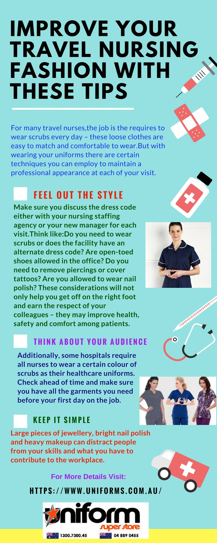 For travel nurses uniforms plays very important role and if used wisely,these healthcare uniforms can maintain their hygiene and fashion both.