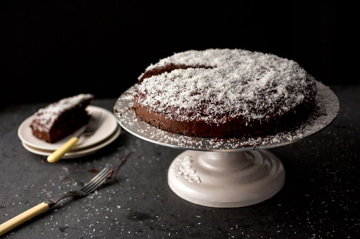 NYT Cooking: Chocolate Coconut Cake